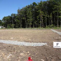 土地187坪、上下水道付、原村中心部約1.8キロ、便利な移住F区画