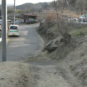 敷地と前面道路をつなぐアプローチ逆側の写真です