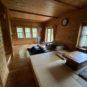 居間 4.5帖の1段高い和室と一体になった居間