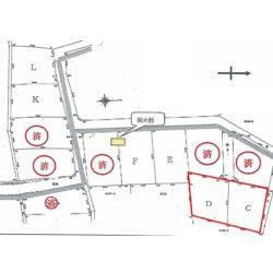 C、D区画を合わせた面積が328坪です。奥まっており静かな雰囲気です