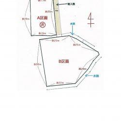 4m×30mの進入路でプライベート感、B区画が販売土地です
